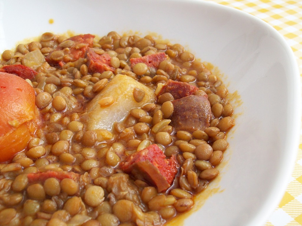 Lentil soup is just the ticket to warm you up on a cold winter day in Spain