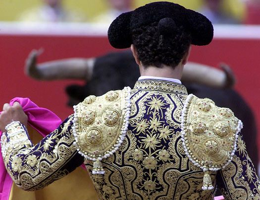 Bullfighting details before the kill