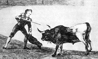 Bullfighting history with one