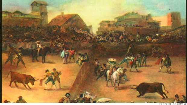 Bullfighting history the outset of