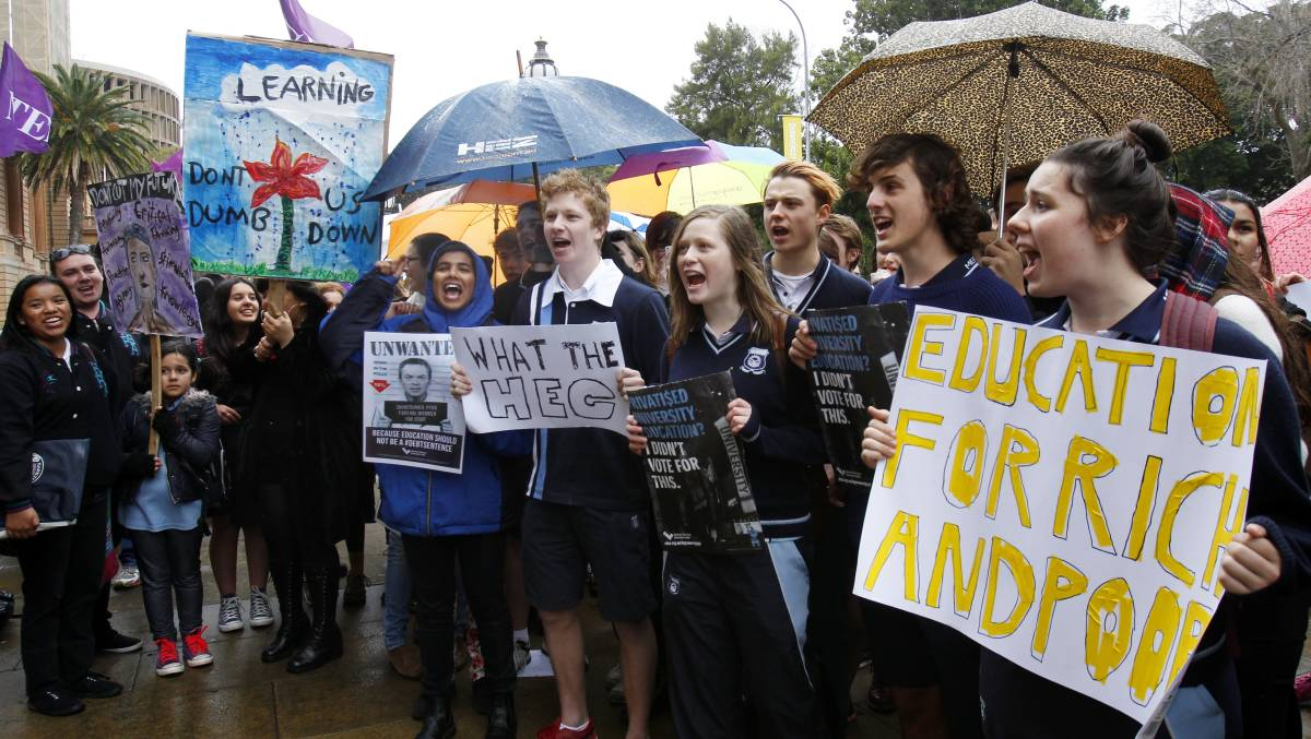 In the country, a eco-friendly tide protests education cuts reductions have