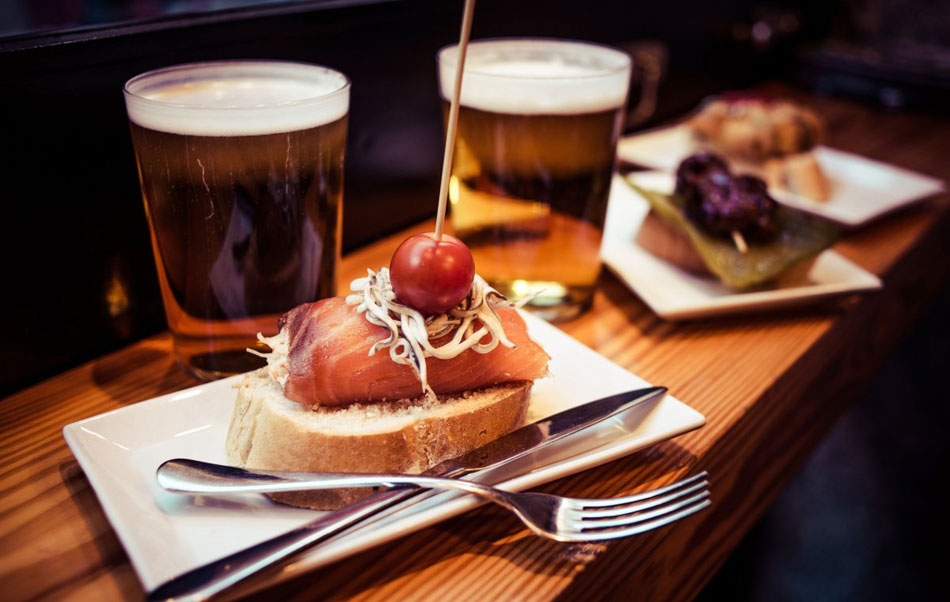 Pintxos are yummy miniatures made in the Basque Country
