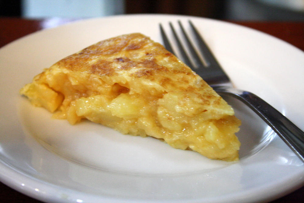 Dinner foods in Spain: Spanish omelet
