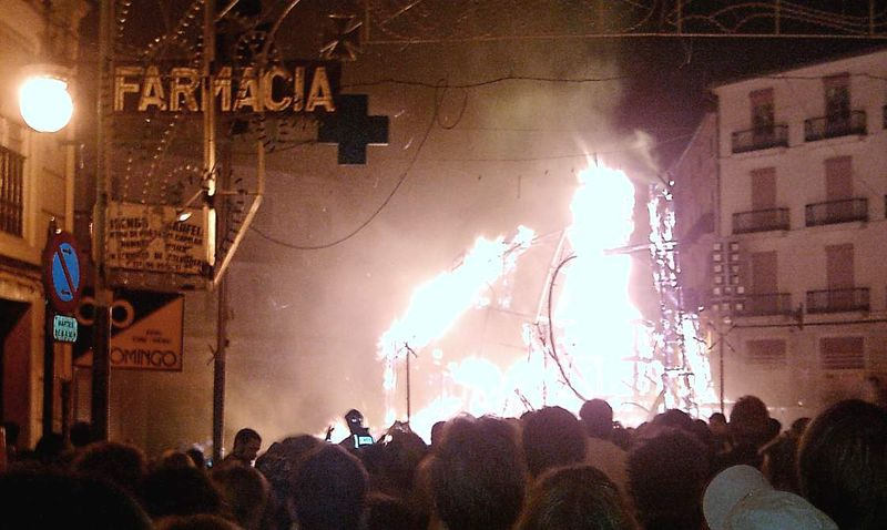 The fires (las fallas) and paella of valencia, the country For something quick, local